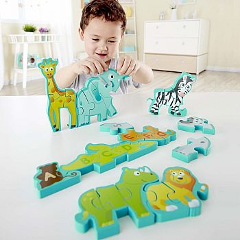 Alphabet & Animal Parade Wooden Puzzle