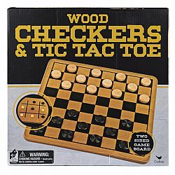 Wood Checkers and Tic Tac Toe