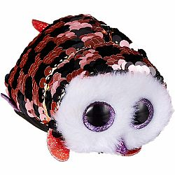 Beanie Boo - Checks Owl Sequined Teeny Ty 4""