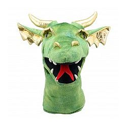 Dragon Head Hand Puppet Green