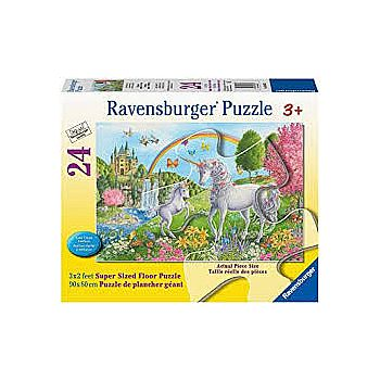 24pc Puzzle - Prancing Unicorns